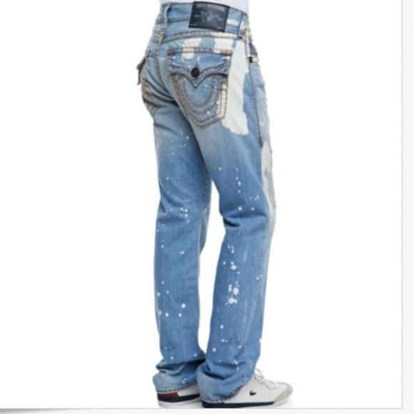 3258b474c True Religion Ricky Super T Flap Paint Splatter